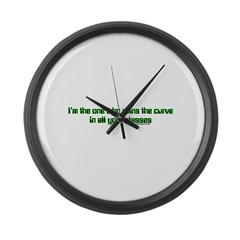 I Ruin The Curve Large Wall Clock