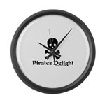 Pirates Delight Large Wall Clock