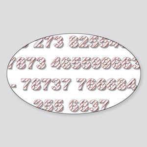 Stationery - Hollywood Oval Sticker
