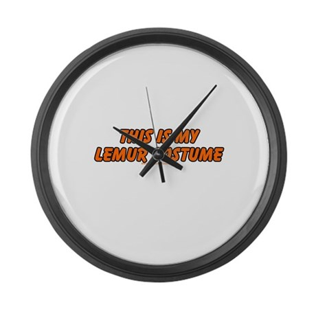 This Is My Lemur Costume Large Wall Clock