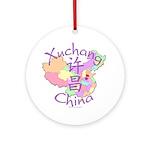 Xuchang China Map Ornament (Round)