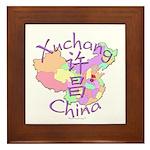 Xuchang China Map Framed Tile