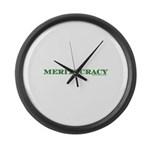 Meritocracy Large Wall Clock