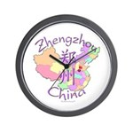 Zhengzhou China Map Wall Clock