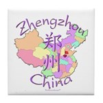 Zhengzhou China Map Tile Coaster