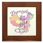 Zhengzhou China Map Framed Tile