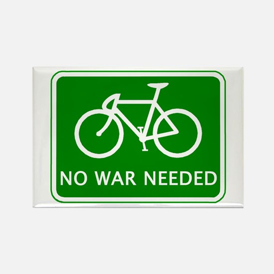 BICYCLE. No War Needed Rectangle Magnet