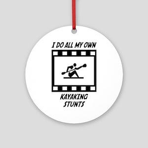 Kayaking Stunts Ornament (Round)