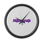 Schizophrenic Large Wall Clock