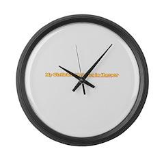 My Girlfriend Belongs In Ther Large Wall Clock