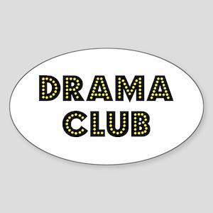 """Drama Club """"Label Me"""" Oval Sticker"""