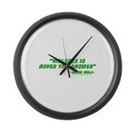 Violence Is Never The Answer Large Wall Clock