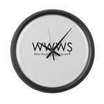 Who Would Watson Scare? Large Wall Clock