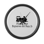 Phineas Gage Explosives Large Wall Clock