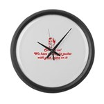 Come On In Large Wall Clock