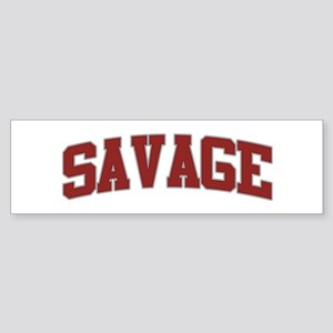 SAVAGE Design Bumper Sticker