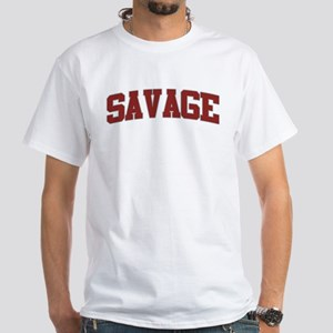 SAVAGE Design White T-Shirt