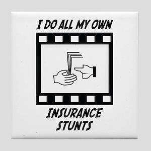 Insurance Stunts Tile Coaster