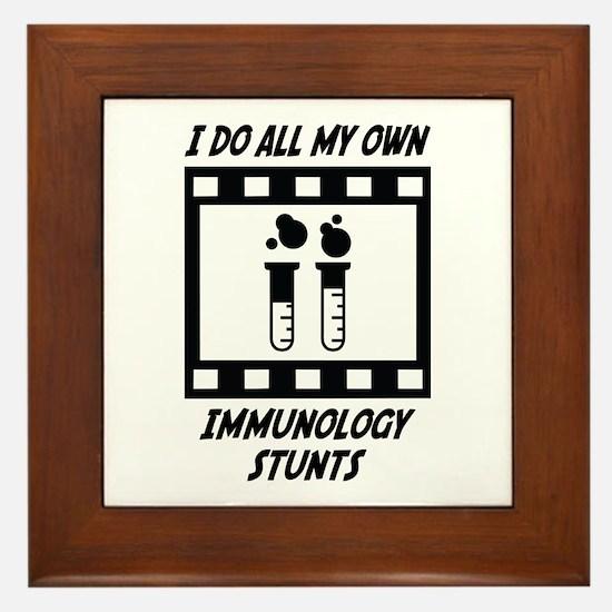 Immunology Stunts Framed Tile