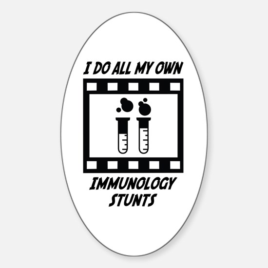 Immunology Stunts Oval Decal