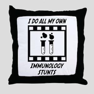 Immunology Stunts Throw Pillow