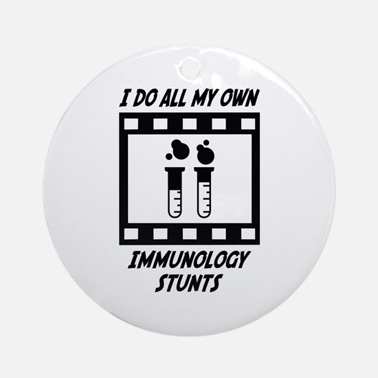Immunology Stunts Ornament (Round)