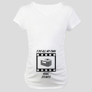 HVAC Stunts Maternity T-Shirt