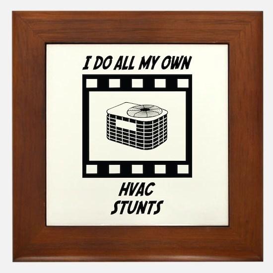 HVAC Stunts Framed Tile