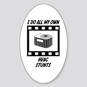 HVAC Stunts Oval Sticker