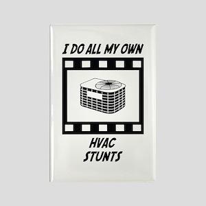 HVAC Stunts Rectangle Magnet
