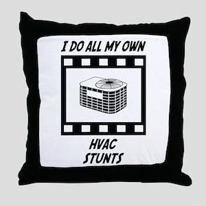 HVAC Stunts Throw Pillow