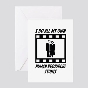 Human Resources Stunts Greeting Card