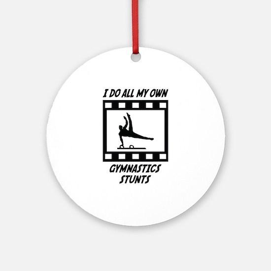 Gymnastics Stunts Ornament (Round)