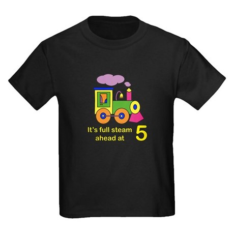 Train 5 Years Old Kids Dark T-Shirt