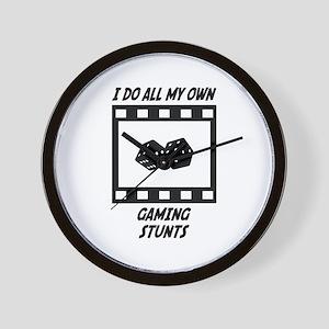 Gaming Stunts Wall Clock