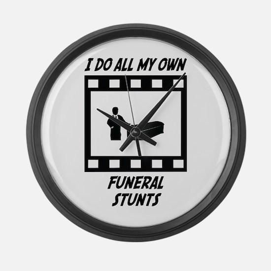 Funeral Stunts Large Wall Clock