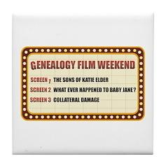 Film Weekend Tile Coaster