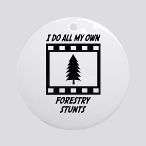 Forestry Stunts Ornament (Round)
