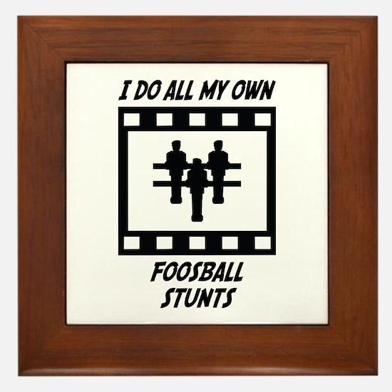 Foosball Stunts Framed Tile