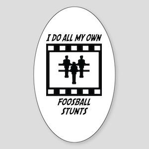 Foosball Stunts Oval Sticker