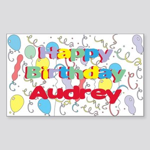 Happy Birthday Audrey Rectangle Sticker
