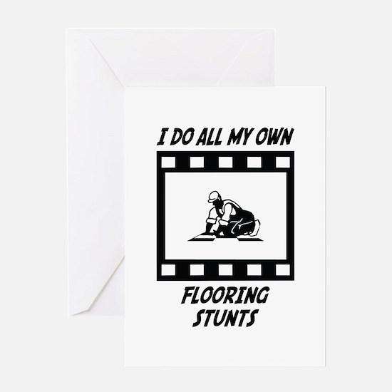 Flooring Stunts Greeting Card