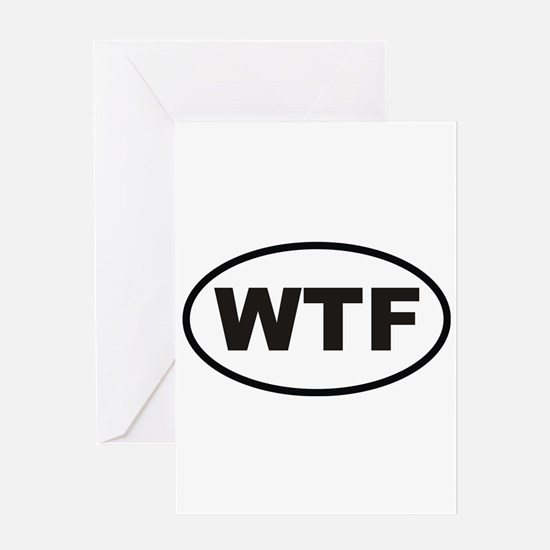 WTF What the Fuck Greeting Card
