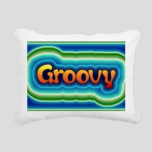 Groovy Rectangular Canvas Pillow