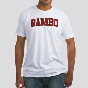 RAMBO Design Fitted T-Shirt