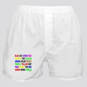 SAY THE COLOR NOT THE WORD Boxer Shorts