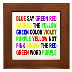 SAY THE COLOR NOT THE WORD Framed Tile