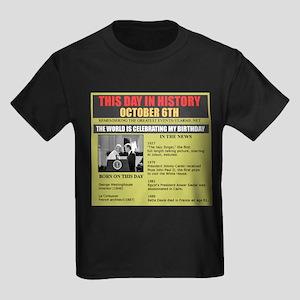 october 6th Kids Dark T-Shirt