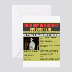 born on october 12th Greeting Card