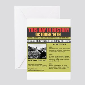 born on october 14th Greeting Card